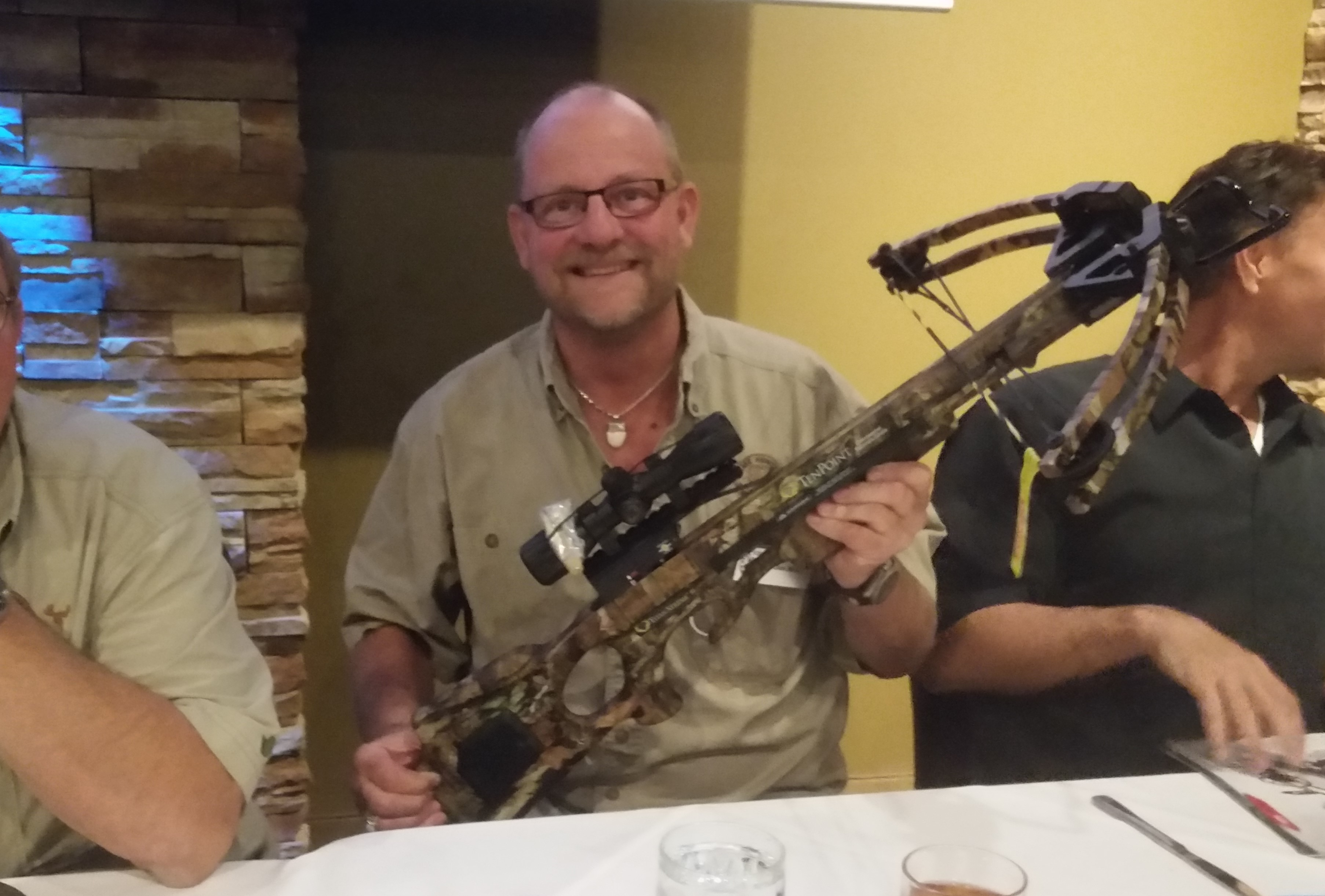 Jim Mraz wins a TenPoint Cross Bow at the May 2016 Meeting